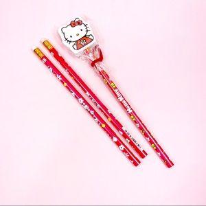 Vintage Sanrio Hello Kitty Pencils & Eraser Kawaii